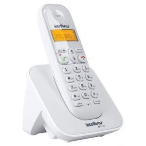 Telefone Sem Fio Intelbras TS 3110 Branco - Tecnologia DECT 6.0, Identificador de Chamadas, Display Luminoso, Agenda e Expansível Até 7 Ramais