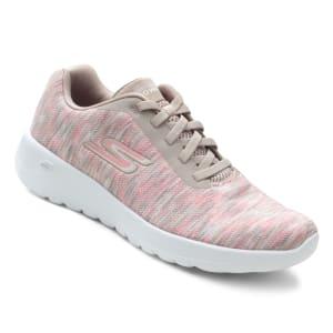 Tênis Skechers Mesclado Go Walk Joy Feminino - Coral