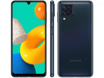 "Smartphone Samsung Galaxy M32 128GB Preto - 4G 6GB RAM Tela 6,4"" Câm. Quádrupla + 20MP - Magazine Ofertaesperta"