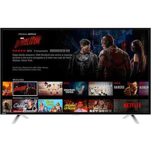"Smart TV LED 49"" Toshiba 49L2600 Full HD com Conversor Digital Wi-Fi 3 HDMI 2 USB 60Hz"