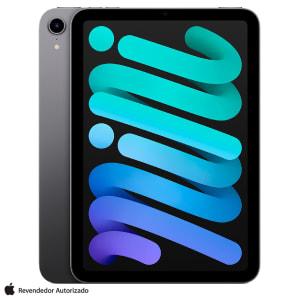"""iPad Mini Cinza Espacial com Tela de 8,3"""", Wi-Fi 64 GB e Processador A15 Bionic - MK7M3BZ/A"""