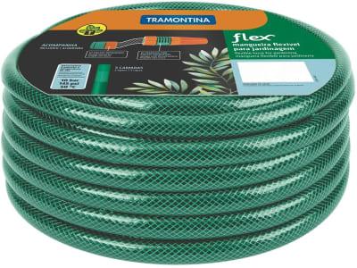 Mangueira Flex Tramontina com Engates Rosqueados e Esguicho em Pvc Verde 10M