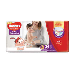 Fralda Huggies M Supreme Care Roupinha Mega 36 Unidades