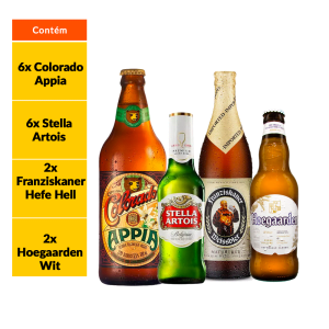 Kit Stella Artois + Cervejas IPA (18 Garrafas)