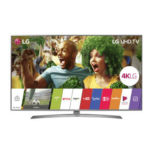"Smart TV LED 75"" LG 75UJ6585 Ultra HD 4K 4 HDMI 2 USB Prata e Preto com Conversor Digital Integrado"
