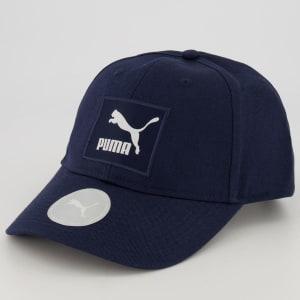 Boné Puma Archive Logo Label Marinho