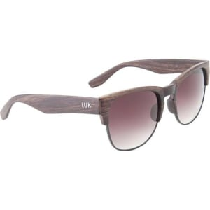 6743827895785 Óculos de Sol Luk Unissex Clubmaster Amadeirado Marrom   Marrom Único