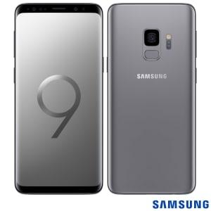 """Samsung Galaxy S9 Cinza, com Tela de 5,8"""", 4G, 128 GB e Câmera de 12 MP - G960"""