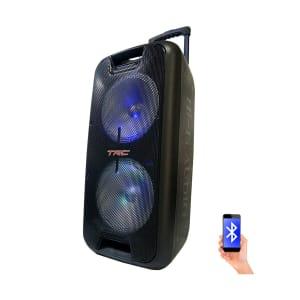 Caixa de Som Amplificada TRC 5570 Bluetooth USB Entrada para Microfone Rádio FM Bateria Interna 700W