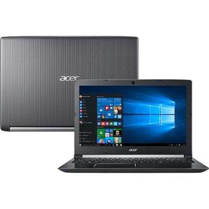 """Notebook A515-51-75RV Intel Core I7-7500u 8GB 1TB LED 15.6"""" W10 Cinza- Acer"""