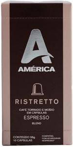 Café em Cápsulas América Ristretto - Compatível com Nespresso - 10 Unidades