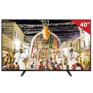 """TV LED 40"""" Panasonic TC-40D400B Full HD com 1 USB 2 HDMI e Media Player"""