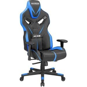 Cadeira Gamer Mymax Mx8 Giratória Preta/Azul