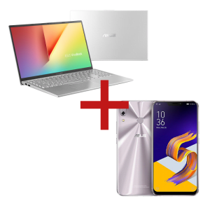 Notebook VivoBook X512FJ-EJ226T Prata Metálico + ZenFone 5 4GB/64GB Prata