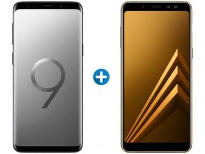 Galaxy S9 Plus 128GB + Galaxy A8 Plus 64GB - Várias cores