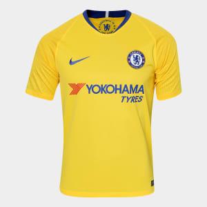 Camisa Chelsea Away 2018 s/n° - Torcedor Nike Masculina - Amarelo e Azul