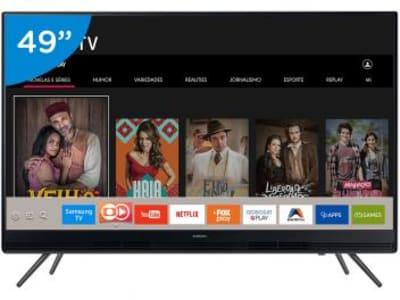 "Smart TV LED 49"" Samsung Full HD 49K5300 - Conversor Digital 2 HDMI 1 USB Wi-Fi - Magazine Ofertaesperta"