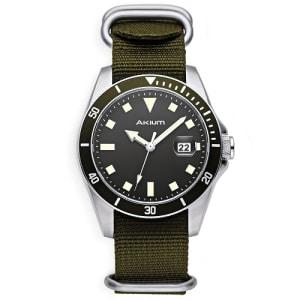 Relógio Akium Masculino Nylon Verde - 03E39GL02-VCSS-VX42