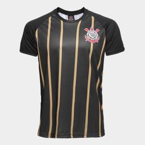Camisa Corinthians Gold nº10 - Edição Limitada Masculina - Preto e Dourado