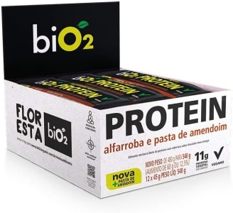Protein Bar Alfarroba Bio2 12 Unidades de 45g