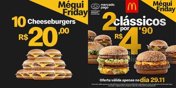 10 Cheeseburguers por R$ 20 no McDonalds Na Black Friday!