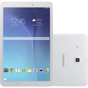 "Tablet Samsung Galaxy Tab E T560N 8GB Wi-Fi Tela 9.6"" Android 4.4 Quad-Core - Branco"