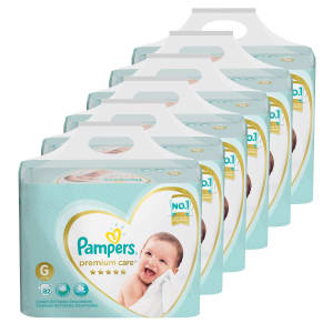 Kit de Fraldas Pampers G Premium Care Top - 492 Unidades