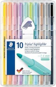 Marcador de Texto - Staedtler Triplus 362 CSB10 - 10 Cores Pastel