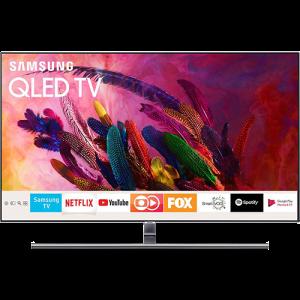 """Smart TV QLED 55"""" Samsung 2018 QN55Q7FNAGXZD Ultra HD 4k Com Conversor Digital 4 HDMI 3 USB Wi-Fi Única Conexão Invisível Modo Ambiente e Pontos Quânt"""