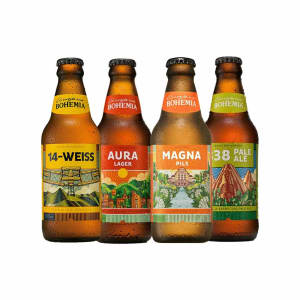 Kit Bohemia 14 Weiss, Magna Pils, 838 Pale Ale e Aura Lager 300ml - 1 unidade de cada