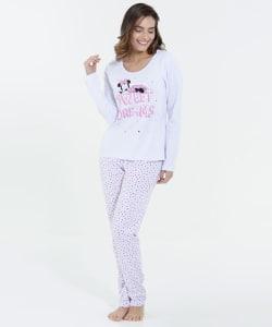 Oferta ➤ Pijama Feminino Minnie Manga Longa Disney   . Veja essa promoção