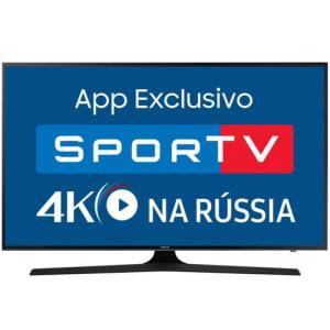 "Smart TV Samsung LED 75"" UHD 4K UN75MU6100GXZD HDR Premium Plataforma Smart Tizen 3 HDMI e 2 USB"