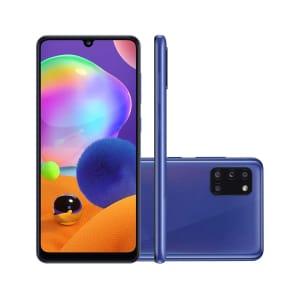 Smartphone Samsung Galaxy A31 128GB Azul 4G Tela 6.4 Pol. Câmera Quadrupla 48MP Selfie 20MP Android 10.0