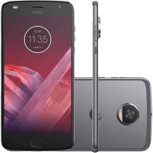 "Smartphone Motorola Moto Z2 Play New Sound Edition Dual Chip Tela 5.5"" Android 7.1 Nougat Octa-Core 2.2 GHz (Snapdragon 626) 64GB 4G Wi-Fi Câmera 12MP - Platinum"
