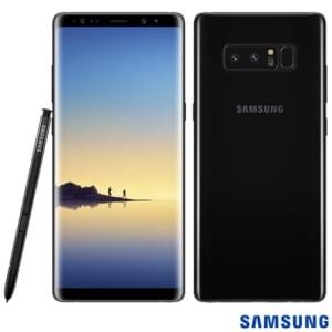 """Samsung Galaxy Note8 Preto, com Tela de 6,3"""", 4G, 64 GB e Câmera Dual de 12 MP+12 MP - SM-N950FZKJZTO - SGSMN950FPTO"""