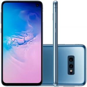"""Smartphone Samsung Galaxy S10E Tela 5,8"""" 128GB Dual Chip OctaCore Câmera Traseira Dupla Azul"""
