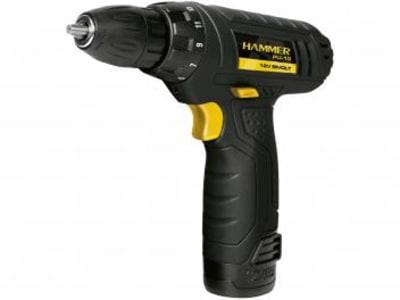 """Furadeira e Parafusadeira a Bateria Hammer 12V - Velocidade Variável e Reversível 3/8"""" GYPLI10"""