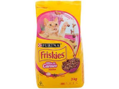 Ração Premium para Gato Friskies Adulto - Mix de Carnes 3kg - Magazine Ofertaesperta