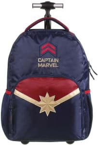 Mochila Escolar com Rodinhas G Capitã Marvel DMW Bags