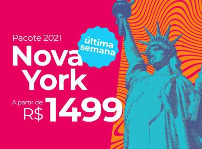 Pacote Nova York - 2021 Passagem Aérea + Hospedagem