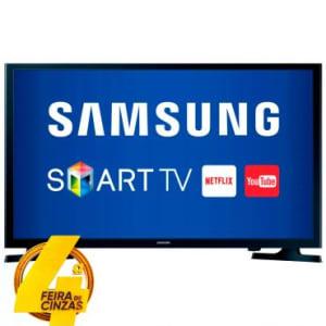 """Smart TV Slim LED 32"""" Samsung HD com WiFi Integrado, Função Futebol, ConnectShare, Screen Mirroring , Entradas HDMI e USB - 32J4300"""