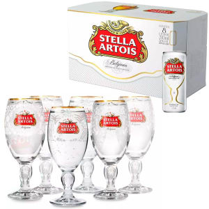 Comprando 2 Trios Cálice Stella Artois México, Índia, Filipinas, ganhe 1 Caixa Stella Artois 310ml (8 latas)