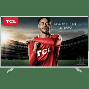 """Smart TV LED 50"""" TCL P6US Ultra HD 4K HDR com Conversor Digital 3 HDMI 2 USB Wi-Fi integrado"""