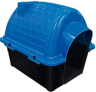 Casinha de Plástico Iglu para Cães Furacão Pet Azul, Tamanho 4