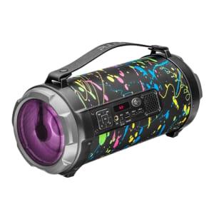 Caixa De Som Pulse Bazooka Paint Blast Bluetooth 120W Bivolt Preta