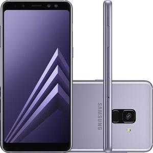 "Smartphone Samsung Galaxy A8 Plus Dual Chip Android 7.1 Tela 6"" Octa-Core 2.2GHz 64GB 4G Câmera 16MP - Ametista"