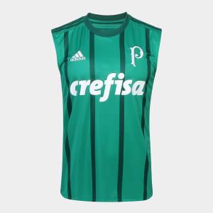 Camisa Regata Palmeiras I 17 18 s nº - Torcedor Adidas Masculina - Verde c4461439b2563