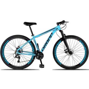 Bicicleta Aro 29 DROPP Alumínio 21 Marchas Freio a Disco - Azul e Preto