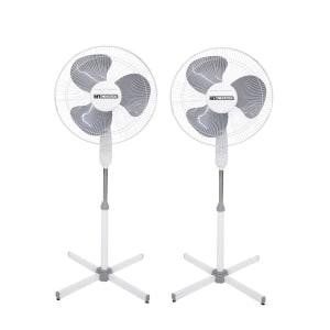 Ventilador de Coluna Incasa Breeze Turbo EE2000B 40cm 3 Pás 3 Velocidades Branco 220V - 2 Unidades