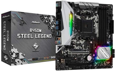 Placa-Mãe ASRock B450M Steel Legend AMD AM4 mATX DDR4 - 90-MXB9Y0-A0UAYZ